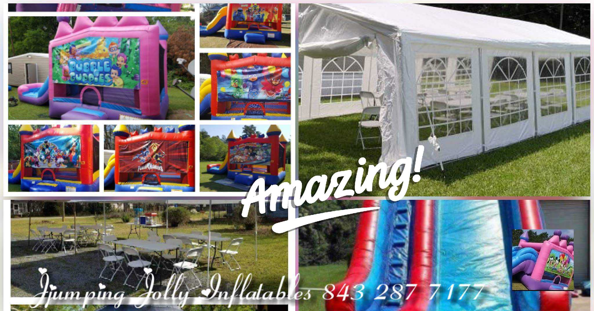 & Bounce houses wedding tents/ party tents waterslides