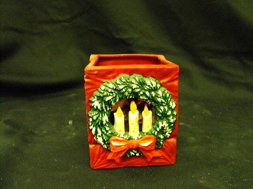 Votive bag w/wreath