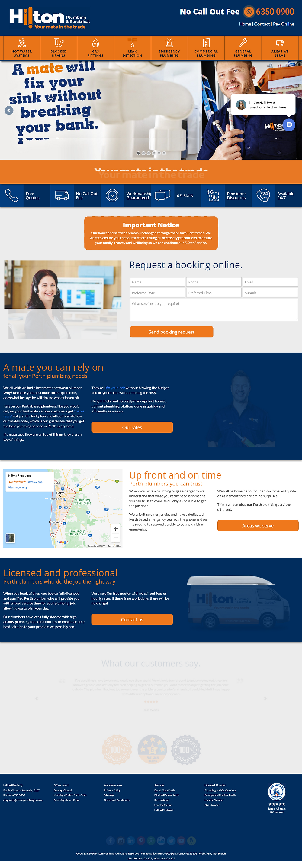 plumbing website Australia best