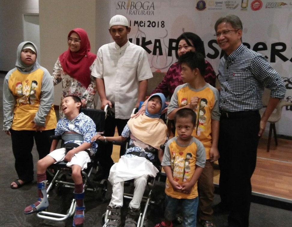 Sriboga invites hundreds of children with disabilities in Ramadan