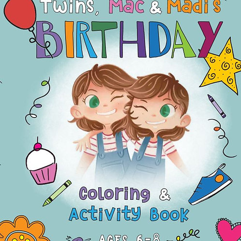 Twins Mac & Madi Coloring & Activity Bundle