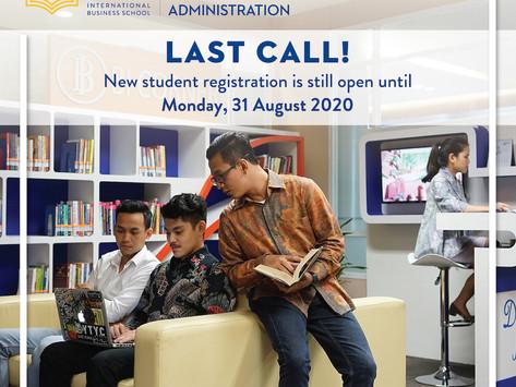 BBA NON-TEST Enrollment 2020