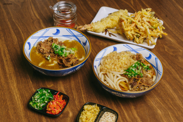 Beef Curry Udon and Niku Udon