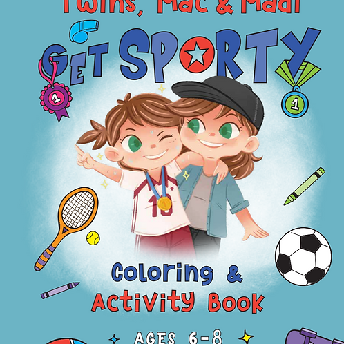 Twins Mac & Madi Get Sporty Coloring & Activity Book