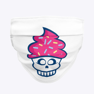 CUPCAKES SKULL FACEMASK