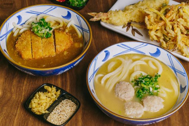 Chicken Katsu Udon and Tori Baitan Udon