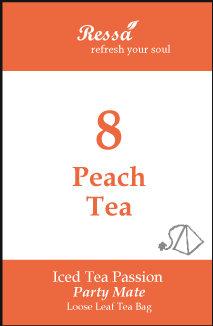 8 Peach Tea . Tea Bag