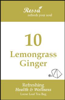 10 Lemongrass Ginger .Tea Bag