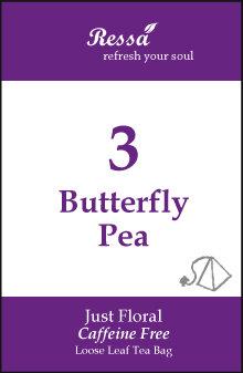 3 Butterfly Pea . Tea Bag