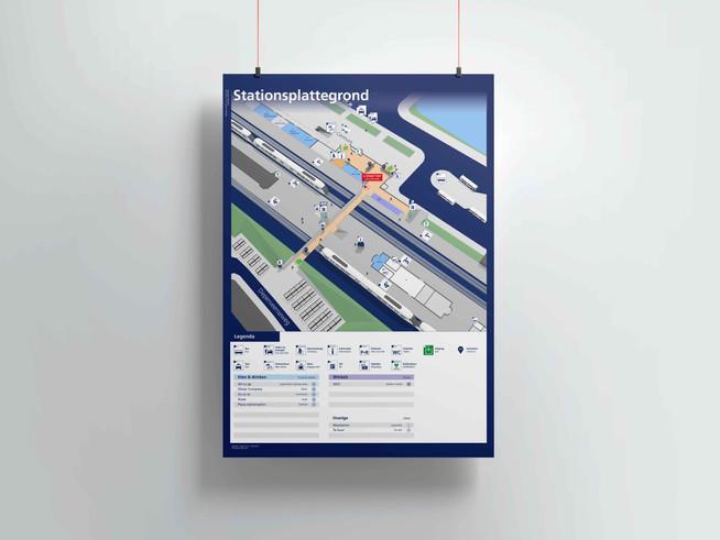 Plattegrond station Deventer