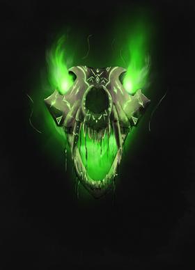 Crâne de loup maudit