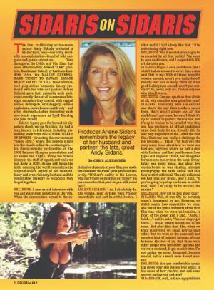 Delirium Magazine Interview with Arlene Sidaris