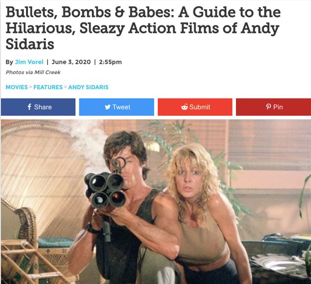 Bullets, Bombs & Babes: A Guide to the Hilarious, Sleazy Action Films of Andy Sidaris