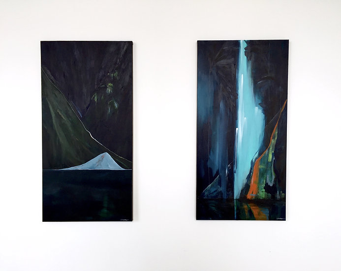 Gaia I & Gaia II, 50 x 120cm
