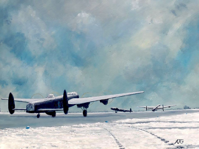 Snow on runway