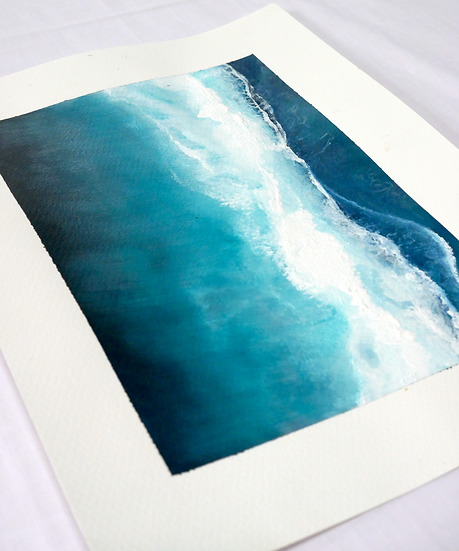 Deep waves, 21 x 29.7cm