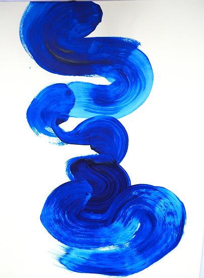 Blue swirl, 29.7 x 21cm.
