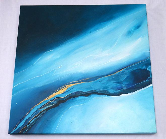 Gold river, 57 x 57cm