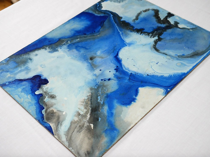 Cobalt waters, 29.7 x 21cm