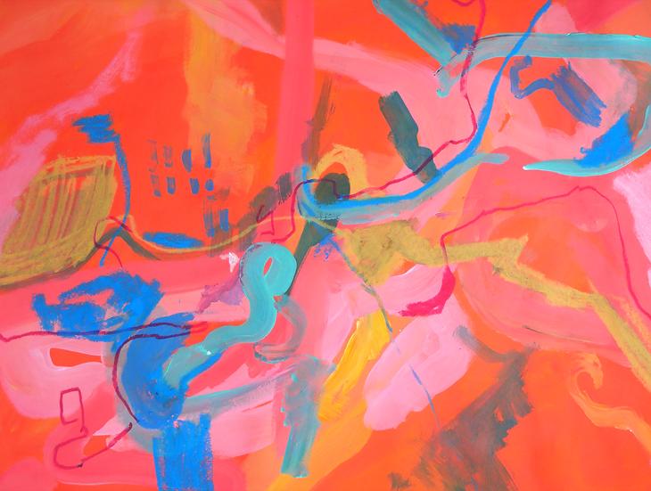 Orange Landscape, 56 x 47.5cm