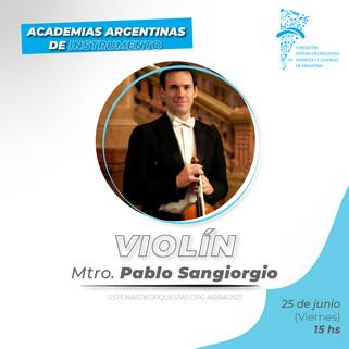 CV Mtro. Pablo Sangiorgio