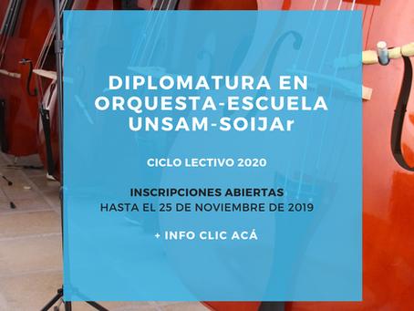 Abren las inscripciones para la Diplomatura en Orquesta-Escuela 2020