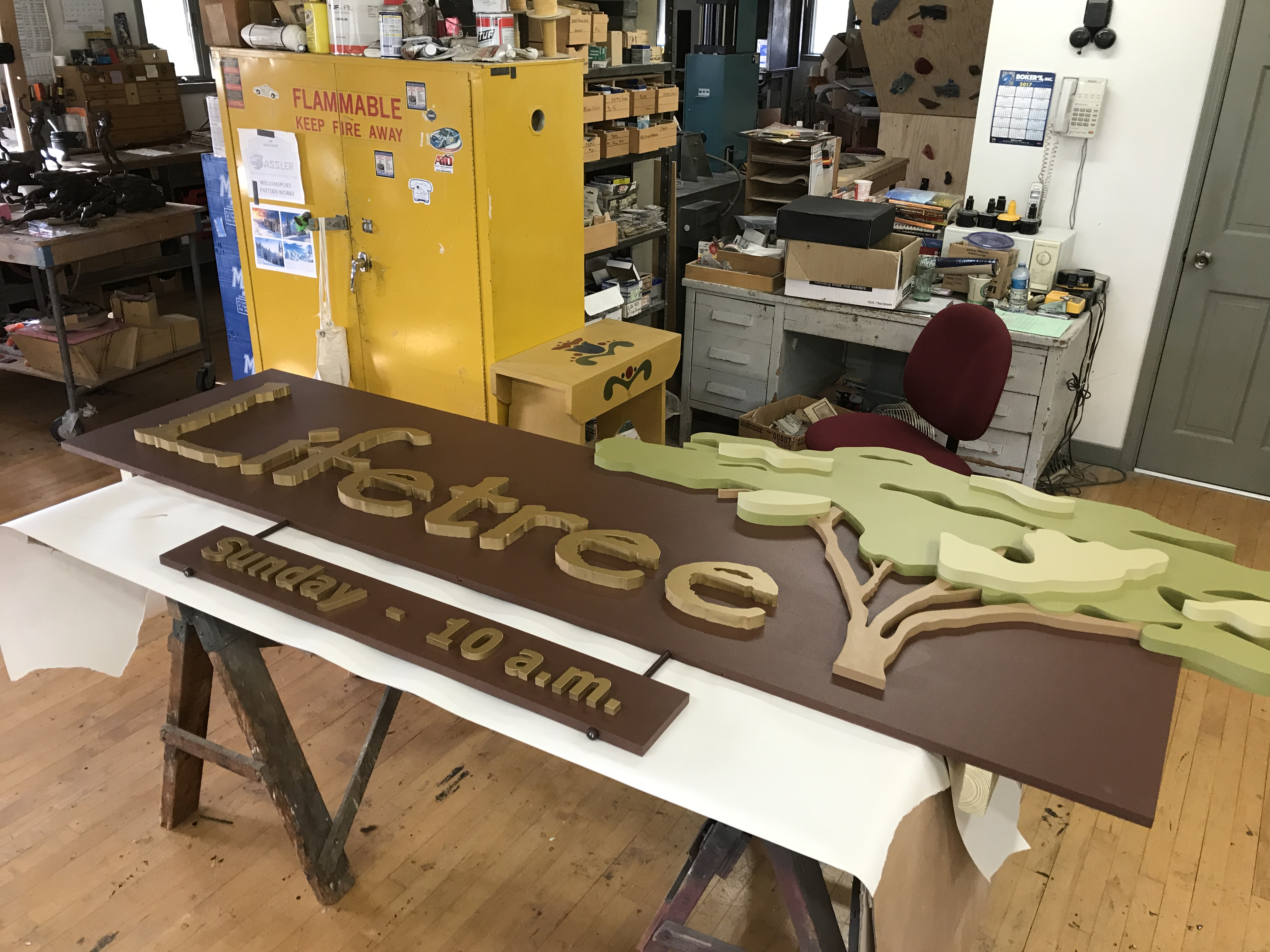 CNC Routed and Handmade Sign 4