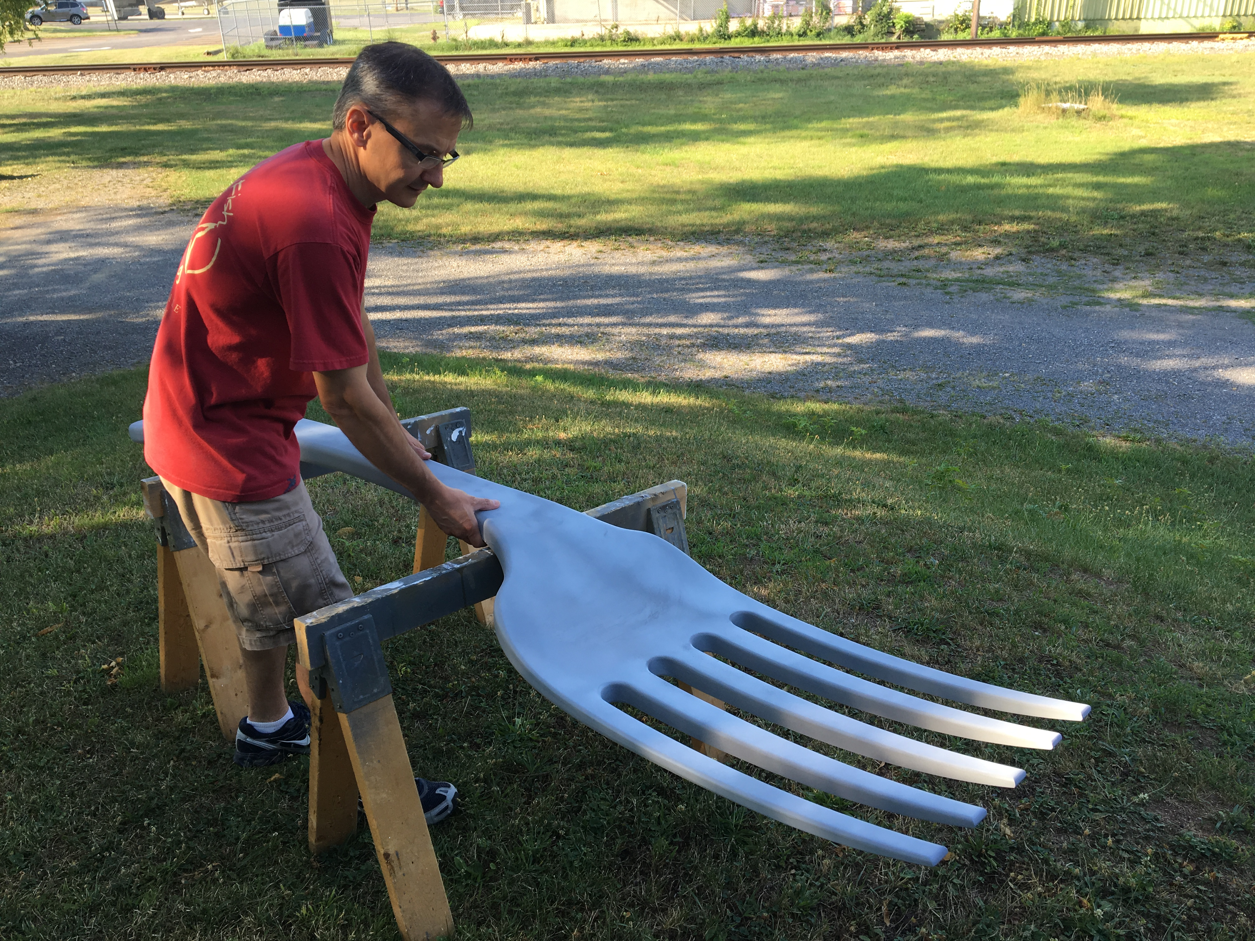 Sculpt of Large Fork Aaron 3