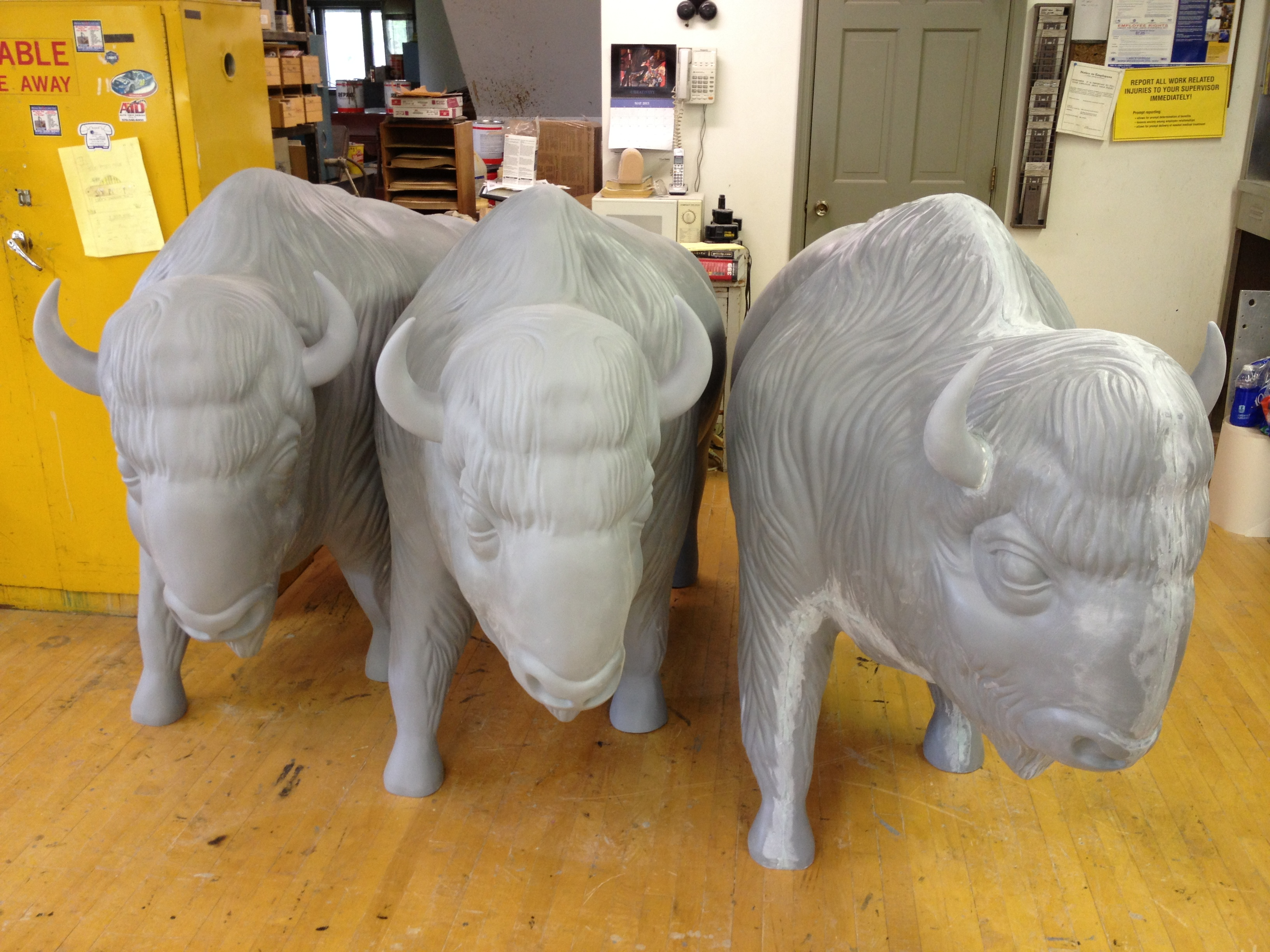 Sculpt Large Bison 40