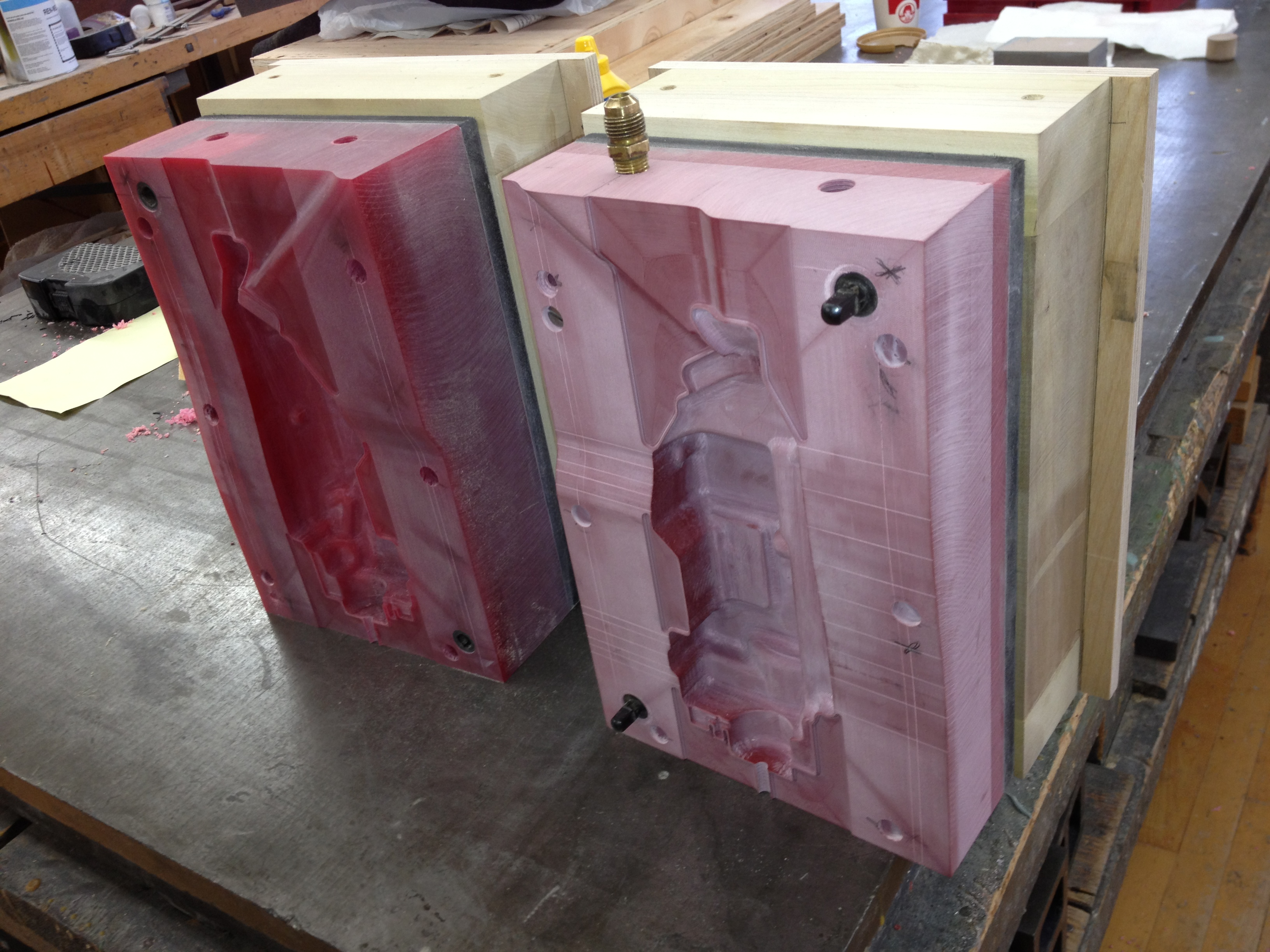 CNC routed Blow Mold 35
