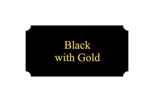 Metal Plate Black/Gold