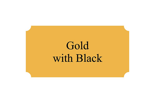 Metal Plate Gold/Black
