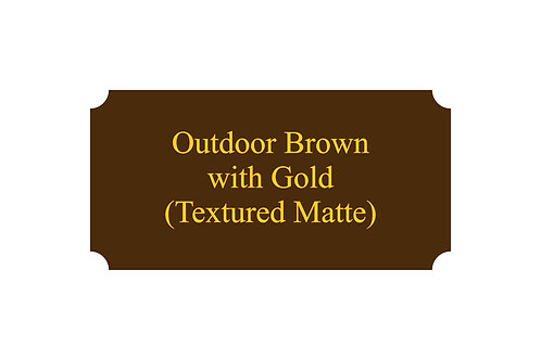 Outdoor Plastic Brown/Gold