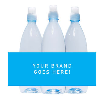 750ml sipper custom branded water