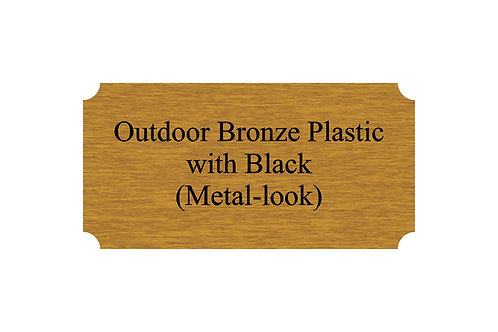 Outdoor Plastic Bronze/Black