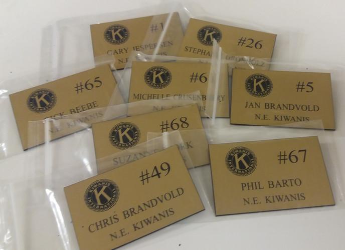 Brushed Gold Name Badges