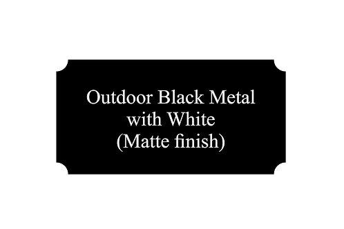 Outdoor Metal Black/White