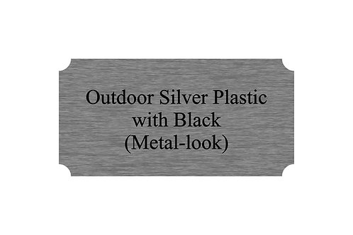 Outdoor Plastic Silver/Black