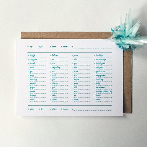 """Paperreka // """"Select-a-card"""" Üdvözlőkártya"""
