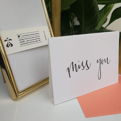 """Paperreka // """"Miss You"""" Üdvözlőkártya"""
