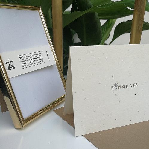 """Paperreka // """"Congrats"""" (Wedding) Üdvözlőkártya"""