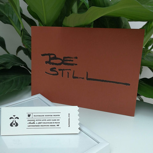 "Paperreka // ""Be Still"" Grafika"