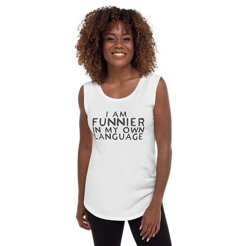 Funnier Ladies' Cap Sleeve T-Shirt