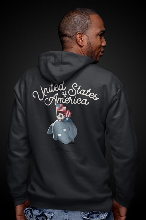 Olli USA Unisex zip hoodie