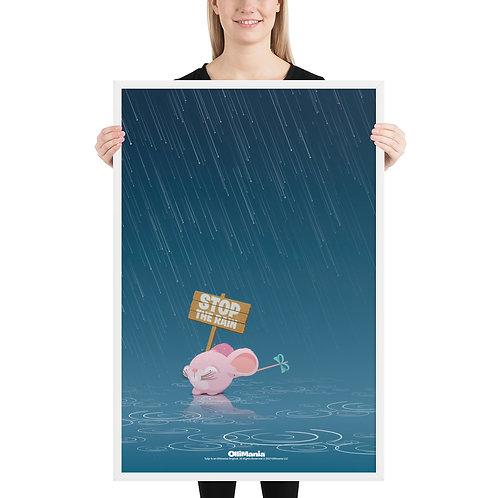 Tutje in the rain Framed poster