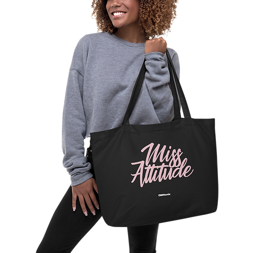 Miss Attitude Large organic tote bag