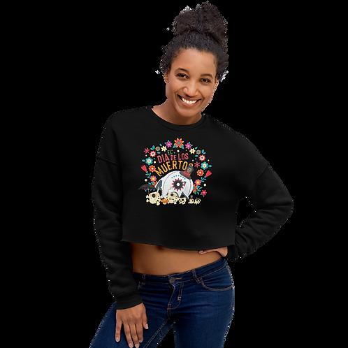 Dia De Los Muertos Crop Sweatshirt