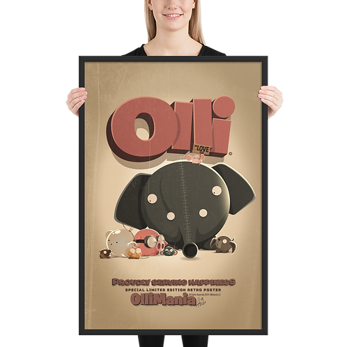 Retro Limited Edition Olli Framed poster