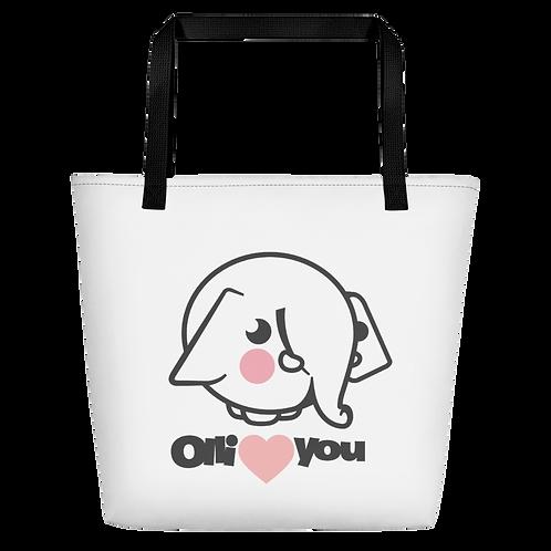 Olli Loves You Beach Bag
