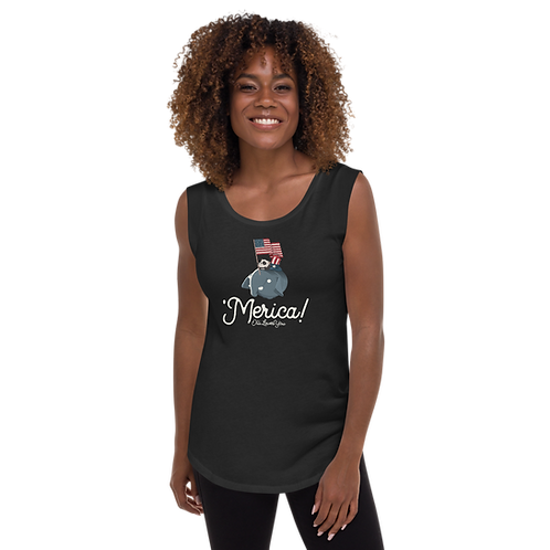 'Merica Ladies' Cap Sleeve T-Shirt